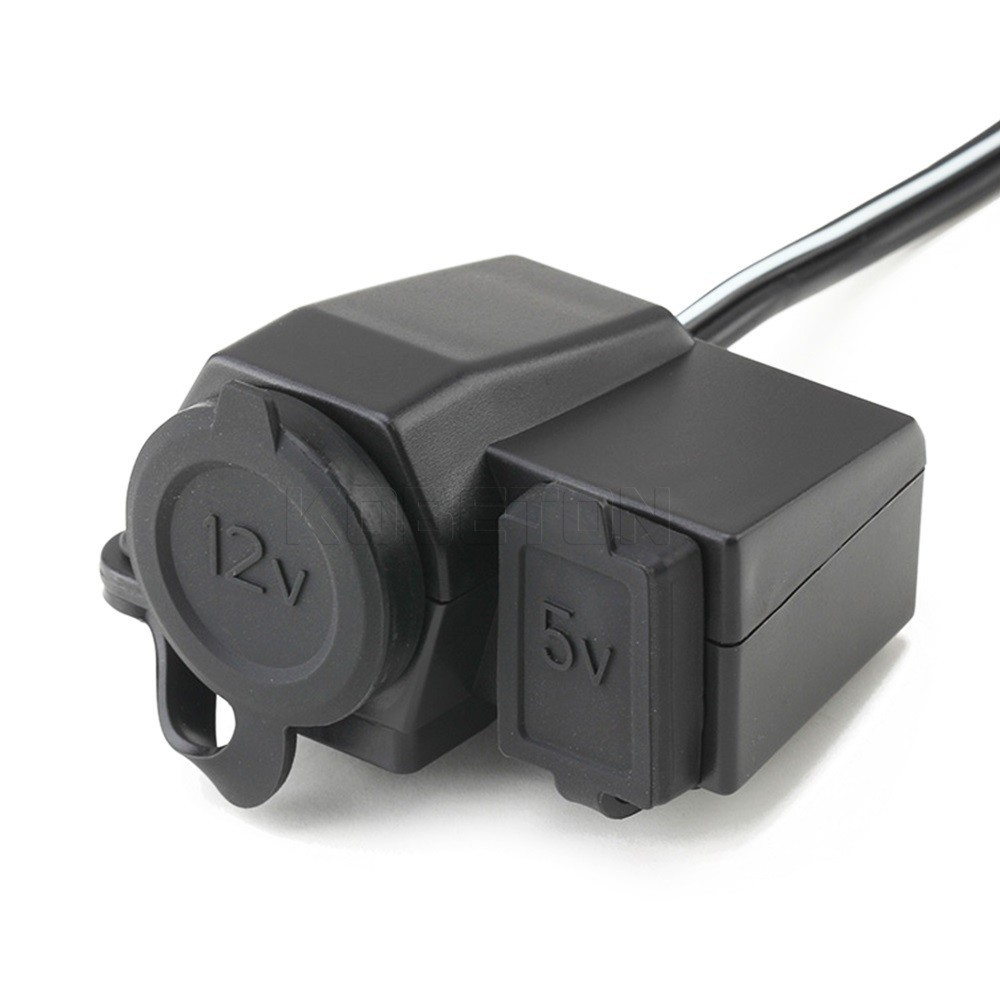 New Hot Waterproof Power Socket Usb For Motorcycle Motorbike 12 V Wiring Cigarette Lighter On Aeproduct
