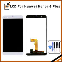 Original 5 Inch Black White 1920x1080 TFT Display For HUAWEI Honor 6 LCD Touch Screen Display