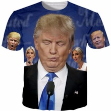 Tshirt Homme 2017 New Novelty Donald Trump Printed T-Shirts Funny 3D Print Tops Short Sleeve Male Top Tees Plus Size 5XL R2886