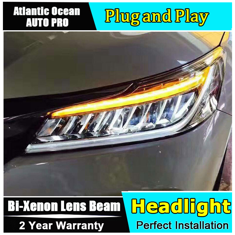 Auto Part Style LED Head Lamp for Honda Accord led headlights 2016 FOR Accord H7 hid Bi-Xenon Lens low beam for volkswagen polo mk5 vento cross polo led head lamp headlights 2010 2014 year r8 style sn