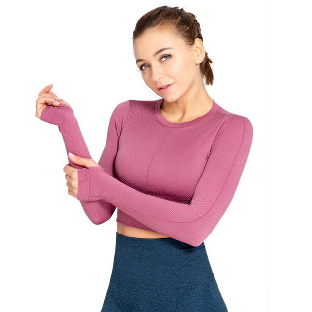 Long Sleeve Fitness Crop Top