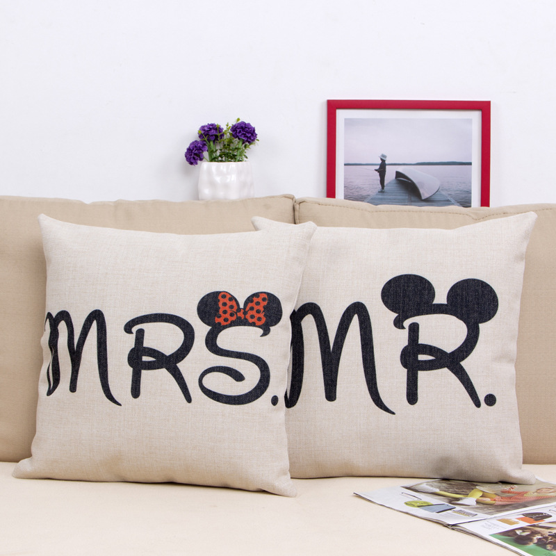 Minnie Pillow Cover Mickey Minnie Mouse Cartoon Lovers