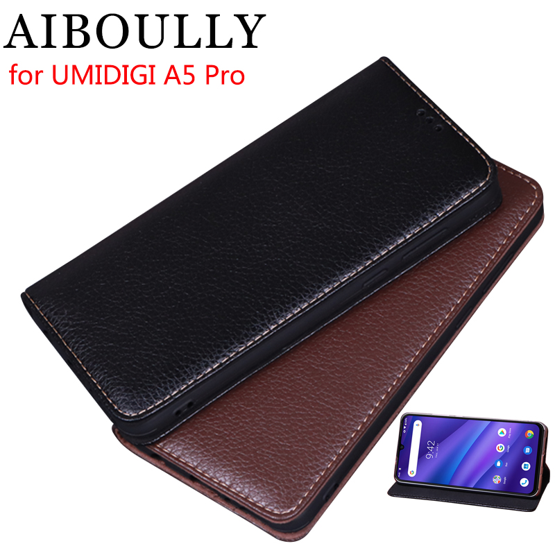 AIBOULLY For UMIDIGI A5 PRO Case Soft Silicone Back Flip Leather Cover Original For A5 Pro 6.3 Case Hard Fundas Phone Bag Capas