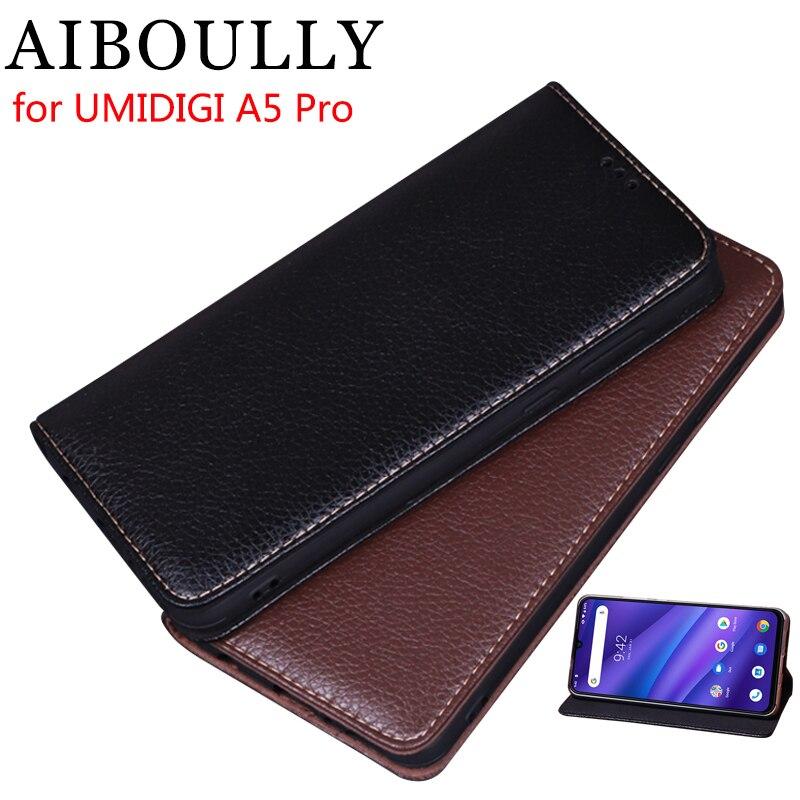 AIBOULLY Para UMIDIGI A5 PRO Soft Case Silicone Voltar Capa de Couro Da Aleta Original Para Fundas A5 Pro 6.3 Caso Difícil saco do telefone Capas