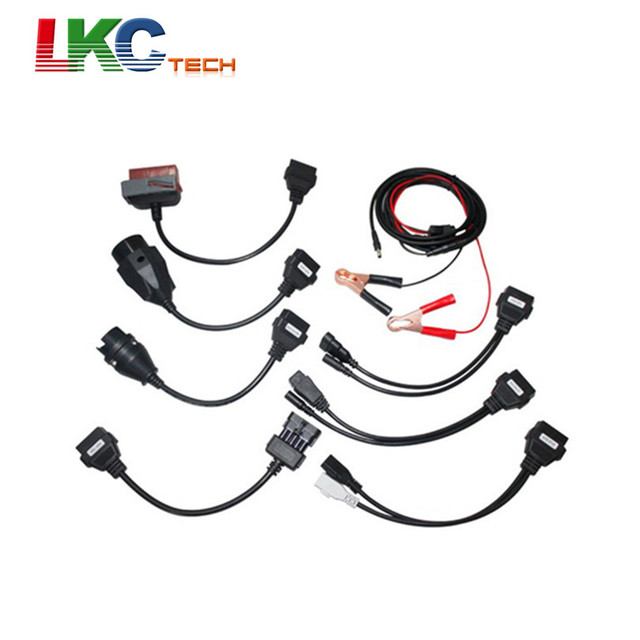 Best Offers Hot Sales Full Sets CDP Car Cables TCS CDP Pro Auto OBD2 Diagnostic Cables With 8 Car Cables Car Diagnostic Interface Scanner