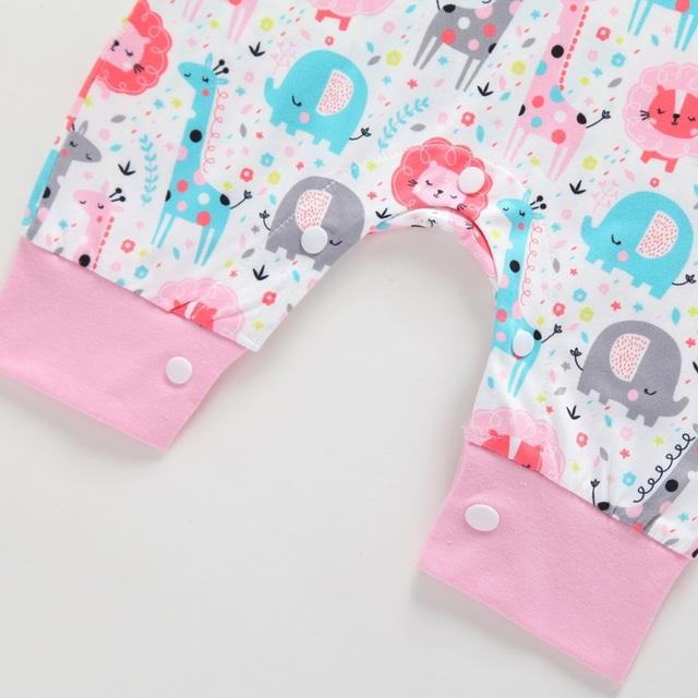 2019 New Baby Newborn Kids Toddler Boys Girls Clothes Sleeveless Short and Long Romper Floral Elephant Jumpsuit Playsuit Sunsuit 4