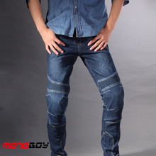 Summer Trousers Off-road Cool Protective Gear Moto Bike Jean Pants M,L,XL, XXL,3XL PK718 Racing Male Blue Men Motorcycle Jeans