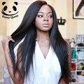 Luz Yaky Recta Pelucas Llenas Del Cordón Del Pelo Humano Pelucas Para Negro mujeres Naturales de Malasia Del Frente Del Cordón Pelucas de Cabello Humano Pelucas Llenas Del Cordón