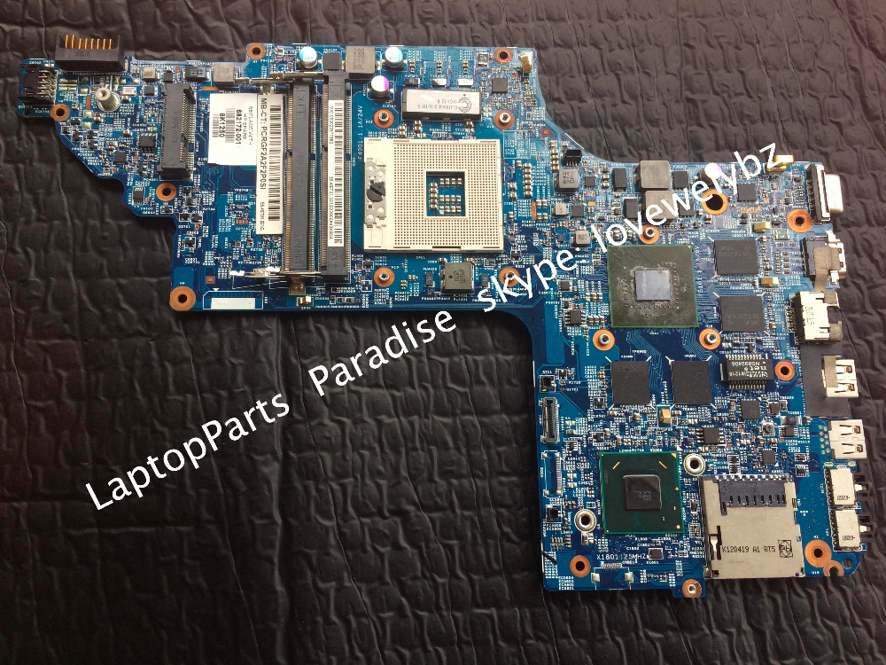 682172-001 For hp pavilion DV6-7000 DV6T-7000 Laptop Motherboard with Nvidia GT650M GPU 1GB