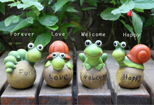Garden Decoration silicone molds Cute Pastoral Crafts Small Animal Frog Snail Turtle Model mold Candle cake decor