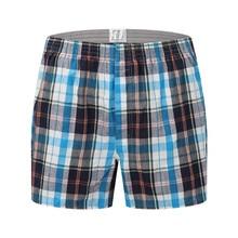 Men Panties Cotton Underwear Boxers Plaid Loose Shorts Soft Large Arrow Pants At Home Underwear Classic Basics Men pajamas