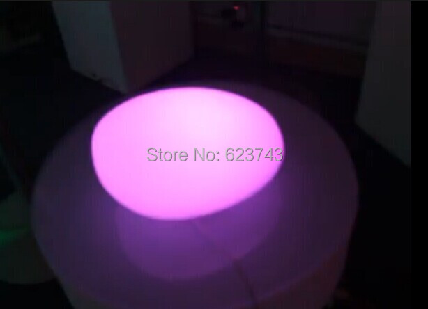 Rechargeable Colorful glowing lighted Cobble stone LED SL-LCL-2515,LED Swimming Pool Lamp LED Ball controller+110/220V Adapter