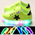 2017 Cool hot sales glowing sneakers for baby LED lighting shoes baby solid color soft girls boys casual baby shoes