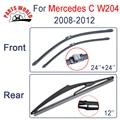 Borracha Natural Brisas Dianteiro E Traseiro Wiper Blades Para Mercedes Benz W204 C 2008 2009 2010 2011 2012 Limpadores de Carro acessórios