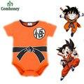 Dragon Ball Mamelucos Del Bebé Para El Bebé Lactante Ropa Carters Bebé Ropa Para Niños Niñas Niño Trajes Mono Del Bebé Pijamas