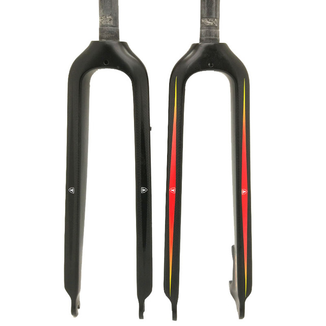 2018 New TFSA Carbon fiber mountain bike front fork 29/26 semi-rigid carbon fork carbon bike straight pipe