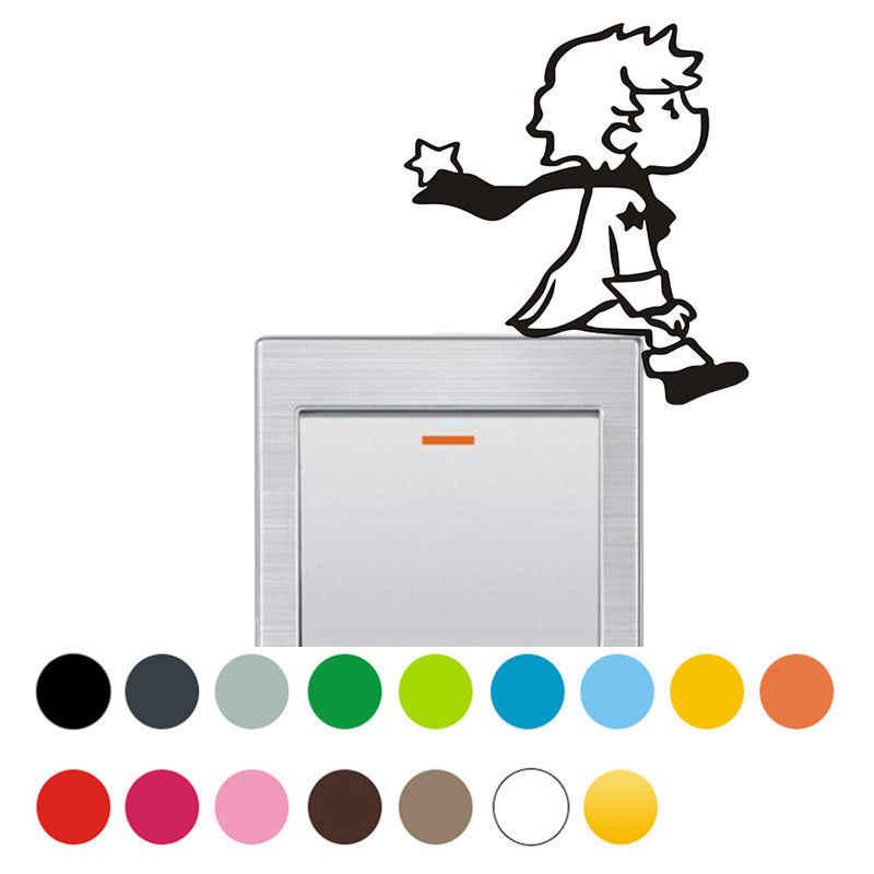 Little Prince ไฟผนังรูปลอกสติกเกอร์ไวนิล DIY ตกแต่งห้องนอน