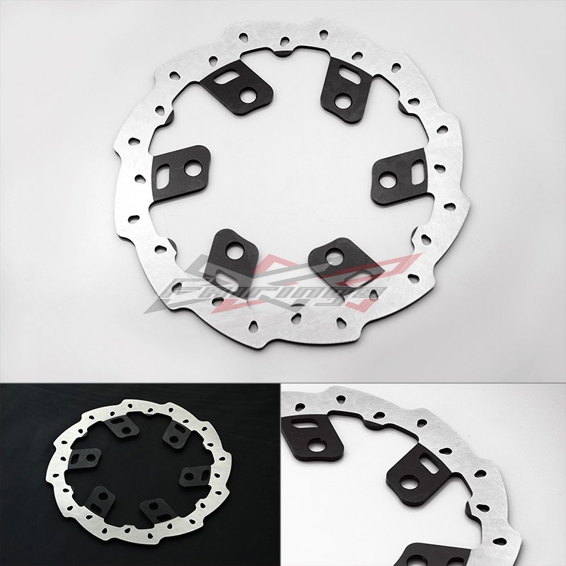 FREE SHIPPING Black Aluminium WAVE REAR BRAKE DISC Fit FOR KTM 125 200 390 DUKE free shipping aluminium wave motorcycle accessories front brake disc rotor disk for ktm 125 200 390 duke 2013 2014