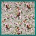 Otoño Nuevo de Seda Pura Bufanda Cuadrada Geranio Florales Fulares encubrimientos Femenino Pashmina Bufandas de Lujo Suave Jacquard de Seda de La Bufanda