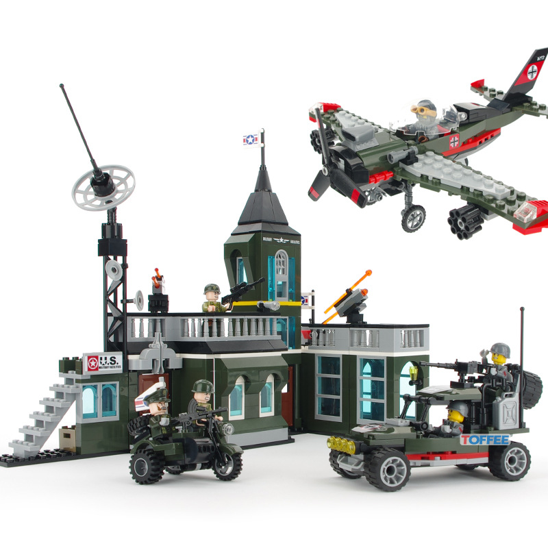 ENLIGHTEN City Fighter Car Tank Military Command Bomber Building Blocks Sets Bricks Model Kids Toys Compatible Legoings 128pcs military field legion army tank educational bricks kids building blocks toys for boys children enlighten gift k2680 23030