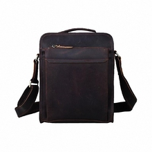 Vintage Crazy Horse Leather Men's Business Case Genuine Leather Messenger Bag Men Shoulder Bag Crossbody Bag LI-919