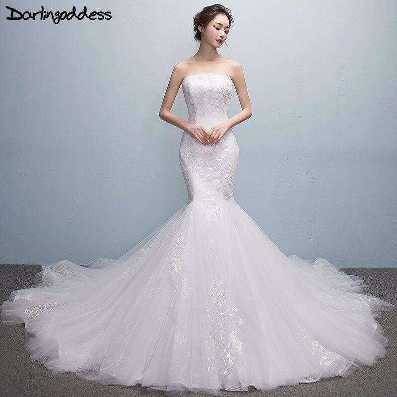 Strapless Mermaid Wedding Gown