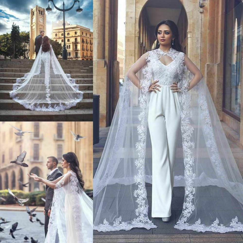 Wedding Lace Tulle Bridal Wraps Long Cape White Ivory Jacket Shawl Applique Cloak Custom Made Plus Size Bridal Accessories