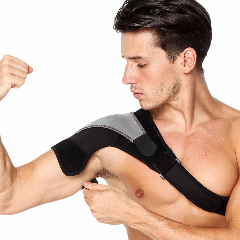 2018 Brace Dislocation Pain Injury Shoulder Support Strap Sports Single Shoulder Support Wrap Pad Breathable 02