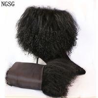 NGSG 2PCS Genuine Natural Fur Winter Coat Cuff Arm Warmers Real Mongolia Sheep Fur Leg Warmer Women Shoe Cover Warm XK1121