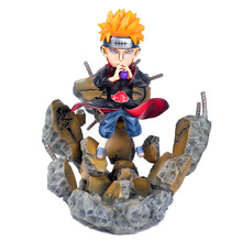 цена на Naruto Shippuden Statue Pain Akatsuki Rinnegan Pein GK  Action Figure Collectible Model Toy