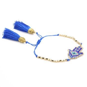 02cc50e983ba Shinus 5 unids lote mal de ojo MIYUKI pulseras del encanto pulsera de  Delica Fátima pulseras joyería de las mujeres de la mano de Hamsa regalos  hechos a ...