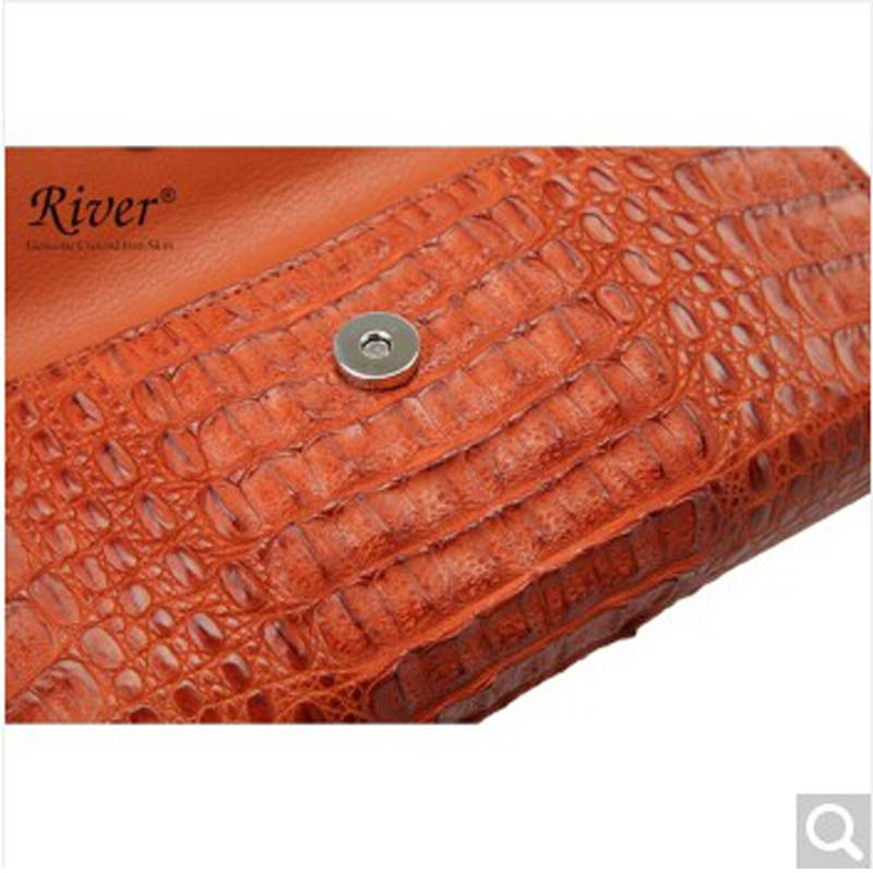 River Thai Origin Alligator Skin Lady Women Handbag Satchel Crocodile Back Head Full Pike Door In Shoulder Bags From Luggage