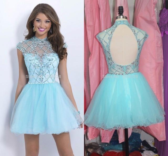Blue Short Homecoming Dresses 2015