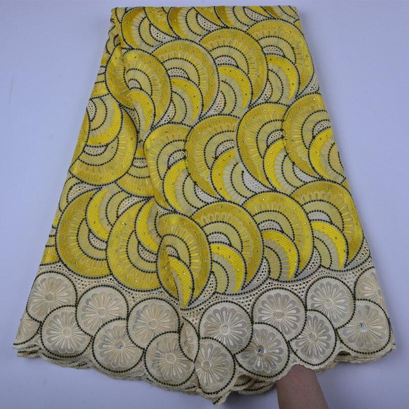 Koronkowy woal w Szwajcarii wysokiej jakości haft afryki suche bawełniane koronki tkaniny mody peruka afrykańska typu swiss Lace tkaniny A1333 w Koronka od Dom i ogród na  Grupa 1