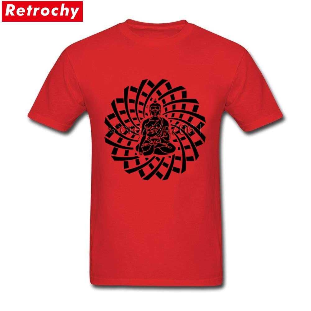 Retro fajne budda siakjamuni czarny T-Shirt mężczyźni luksusowa marka projekt z krótkim rękawem dla dorosłych Tee duży rozmiar T Shirt