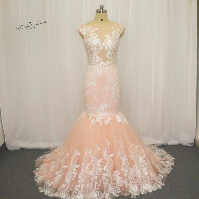 Champagne Vintage Mermaid Trouwjurken Turkije Libanon Afrikaanse  Bruidsjurken Kant Bruid Jurk 2017 Backless Vestido de Noiva 57bb77825b82