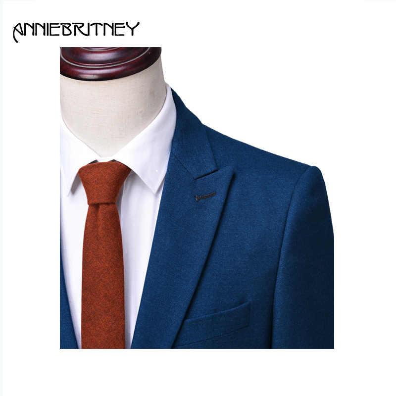 2018 ホット販売最新コートパンツのデザインスーツブルー結婚ウェディングタキシードスタイル新郎ブレザー 3 ピース Terno masculino