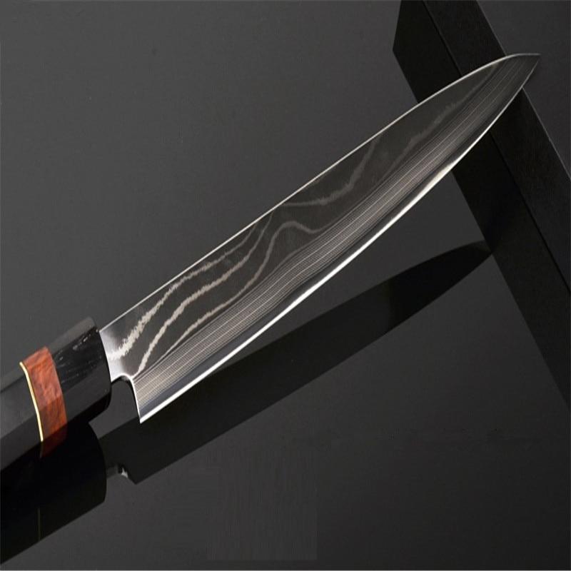 24cm Damaskus Kochmesser Sushi Messer Edelstahl Sushi Sashimi - Küche, Essen und Bar - Foto 3