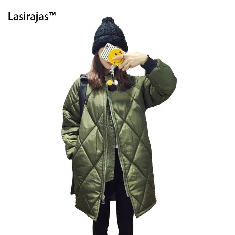 ФОТО 2016 New Fashion Women Raglan Sleeve Loose Long-sleeved Jacket Female Diamond Lattice Coat Overcoat