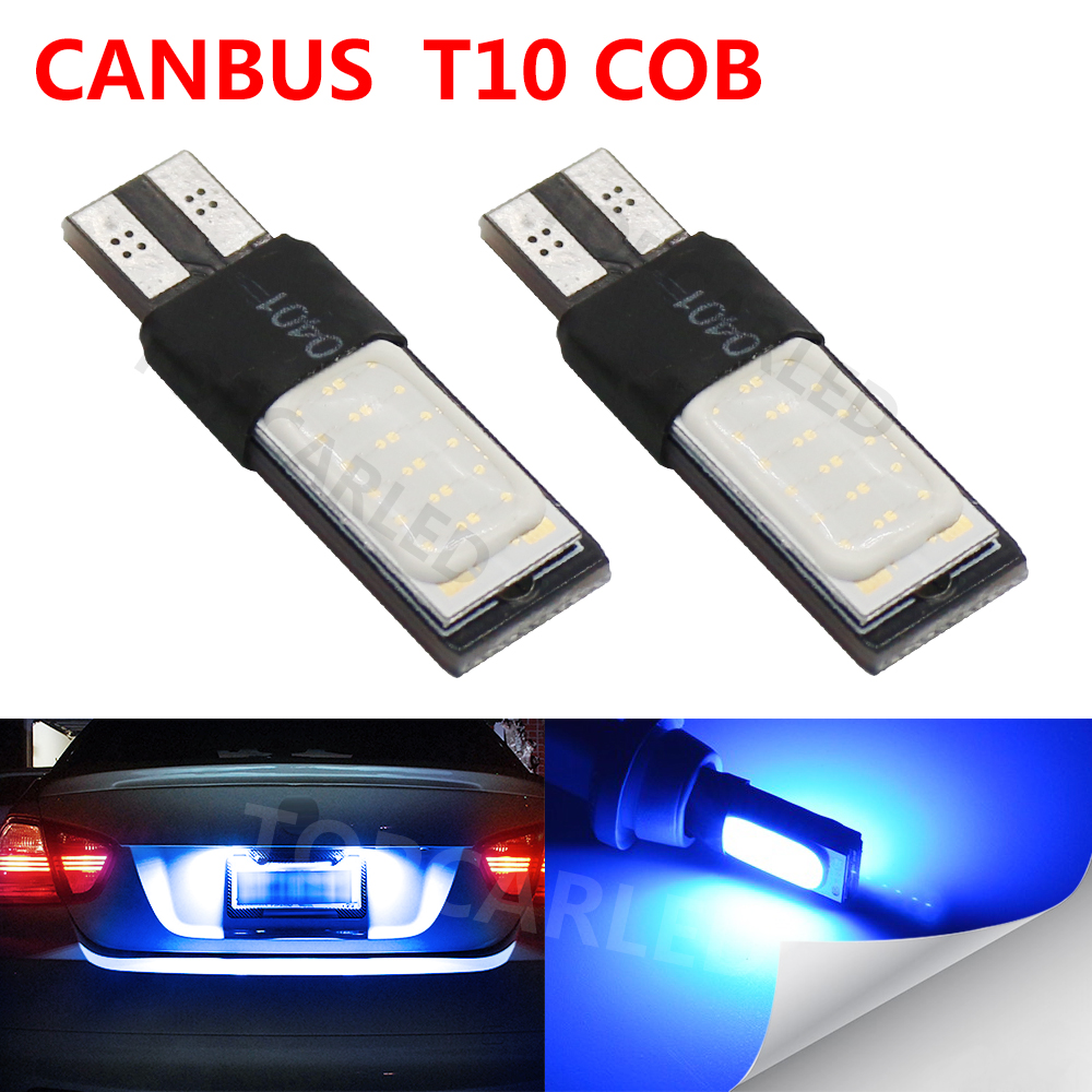 Car led Canbus Error Free T10 194 501 W5W 12SMD t10 COB LED High Power Car Auto Wedge Lights Parking Bulb Lamp DC12V Car styling 10pcs super bright led lamp t10 w5w 194 6smd 4014 error free canbus interior bulb white for car dc 12v free shipping new