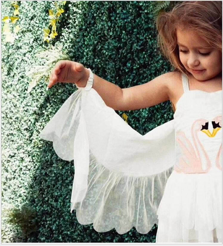 bf910890107a Flamingo dress Tutu and top dance clothes for girl baby angel dress Cotton  cartoon Removable Angel wings birthday girls dress -in Dresses from Mother  & Kids ...
