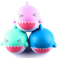 New 15cmBig Lovely Happy Shark Scented Squishy Slow Rising Squeeze Toys Collection For Children Adults Relieves