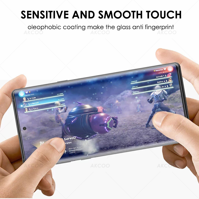 10D Akcoo Note 10 UV Glass Screen Protector With FINGERPRINT UNLOCK For Samsung Galaxy Note 10  S10 Plus S8 9 5G Glass Film