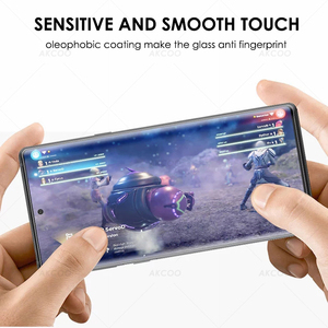 Image 5 - 10D Akcoo Note 10 УФ стекло для защиты экрана с разблокировкой по отпечатку пальца для Samsung Galaxy Note 10 S10 Plus S8 9 5G стеклянная пленка