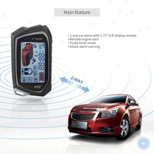 Two-Way Remote Engine Start Anti-theft Hijacking Auto car alarm