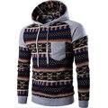 Hoodies Men 2017 Brand Male Long Sleeve Hoodie National Wind Spell Color Sweatshirt Mens Cardigan Mens Hoodies Slim Tracksuit