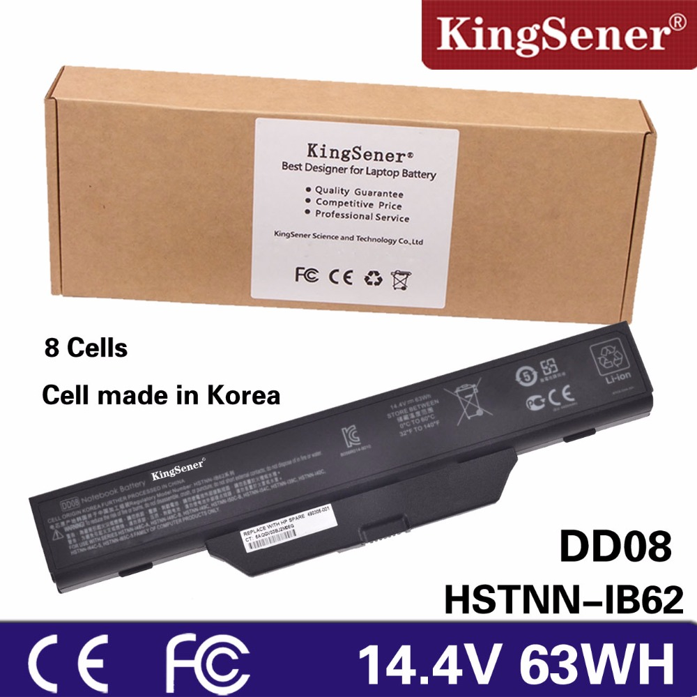 KingSener Korea Cell New DD08 Battery for HP 6720s 6730s 6735s 6830s 6820s COMPAQ 610 510 511 Notebook HSTNN-IB51 HSTNN-IB62 цена и фото