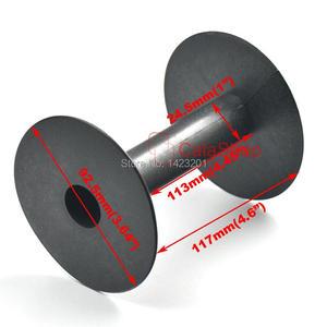 Image 2 - 10 Pcs / Lot 92mm x 117mm Plastic Empty Wire Spools Bobbins Round Ends Cord Ribbon Sewing White Black