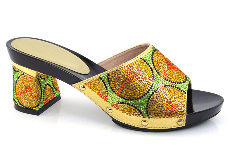 ФОТО Pretty design African Sandals sexy Lady Shoes with gold,fashion PU Leather High gold Heels For Women!size 37-43! ! HDD1-40