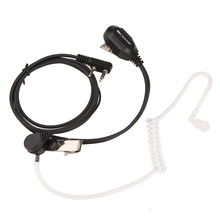 2 Pin Acoustic Tube Walkie Talkie Headset PTT Microphone Earphone Earpiece for Baofeng Kenwood Radio Interphone OD#S